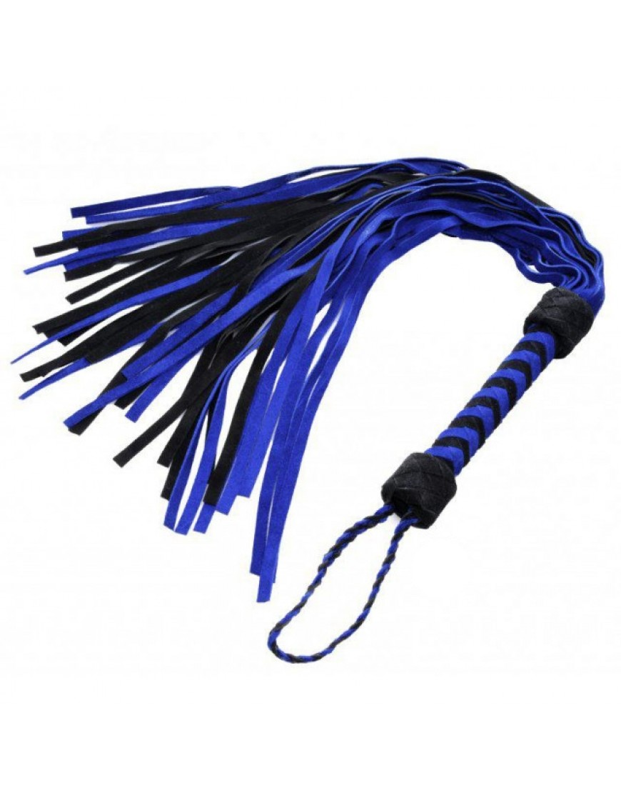Blue and Black Suede Flogger