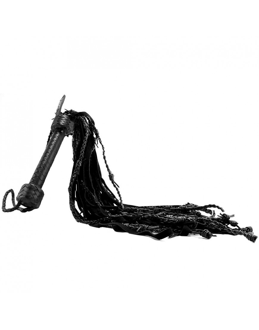 Pain Leather Suede Barbed Wire Flogger