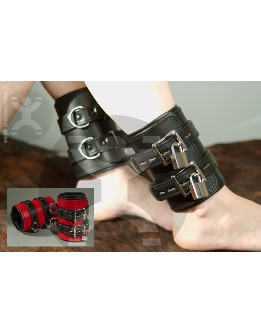 "Sacred and Sensational 5"" Wide Leather Cuffs"