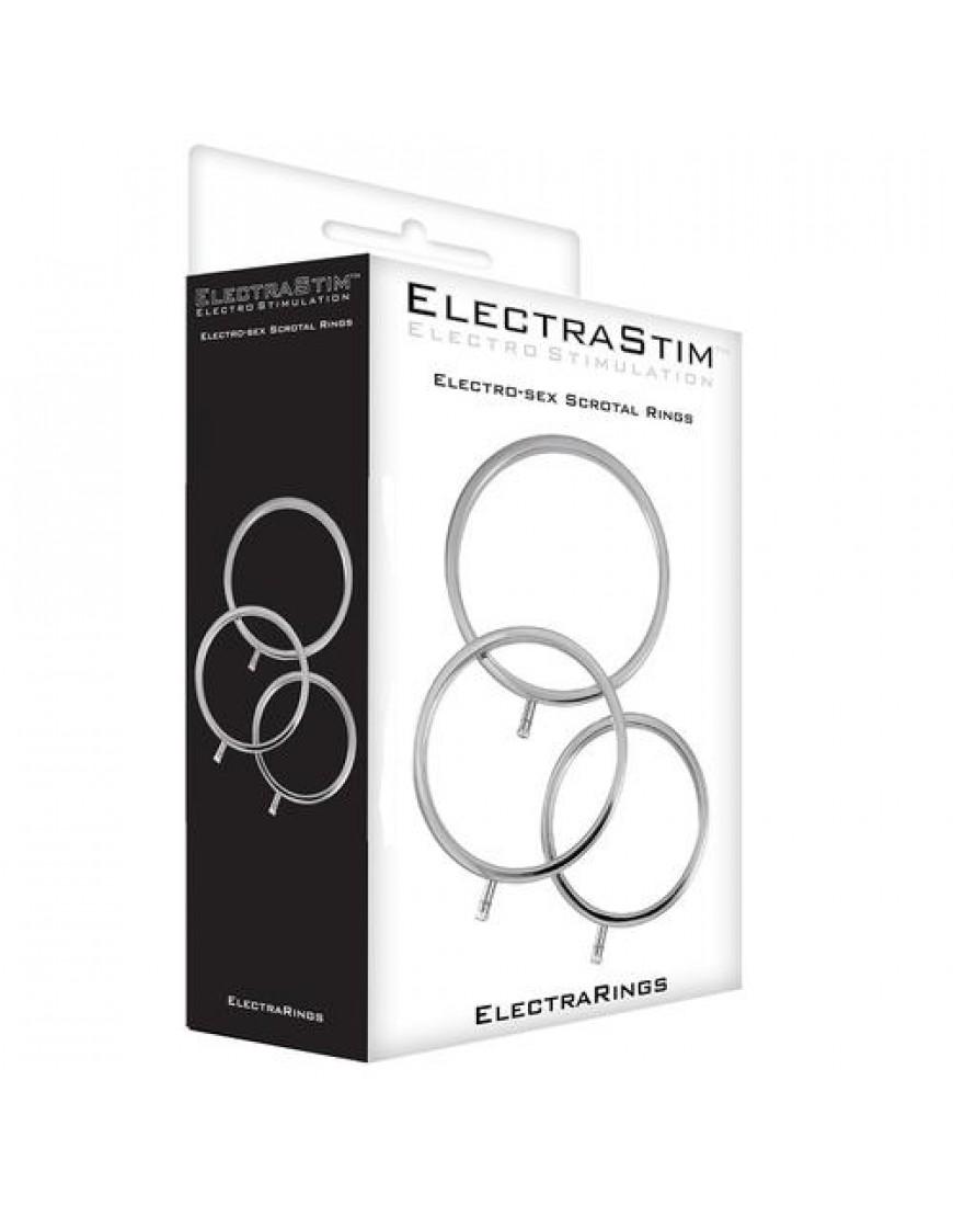 ElectraStim Solid Metal Scrotal Ring Set 3 Sizes