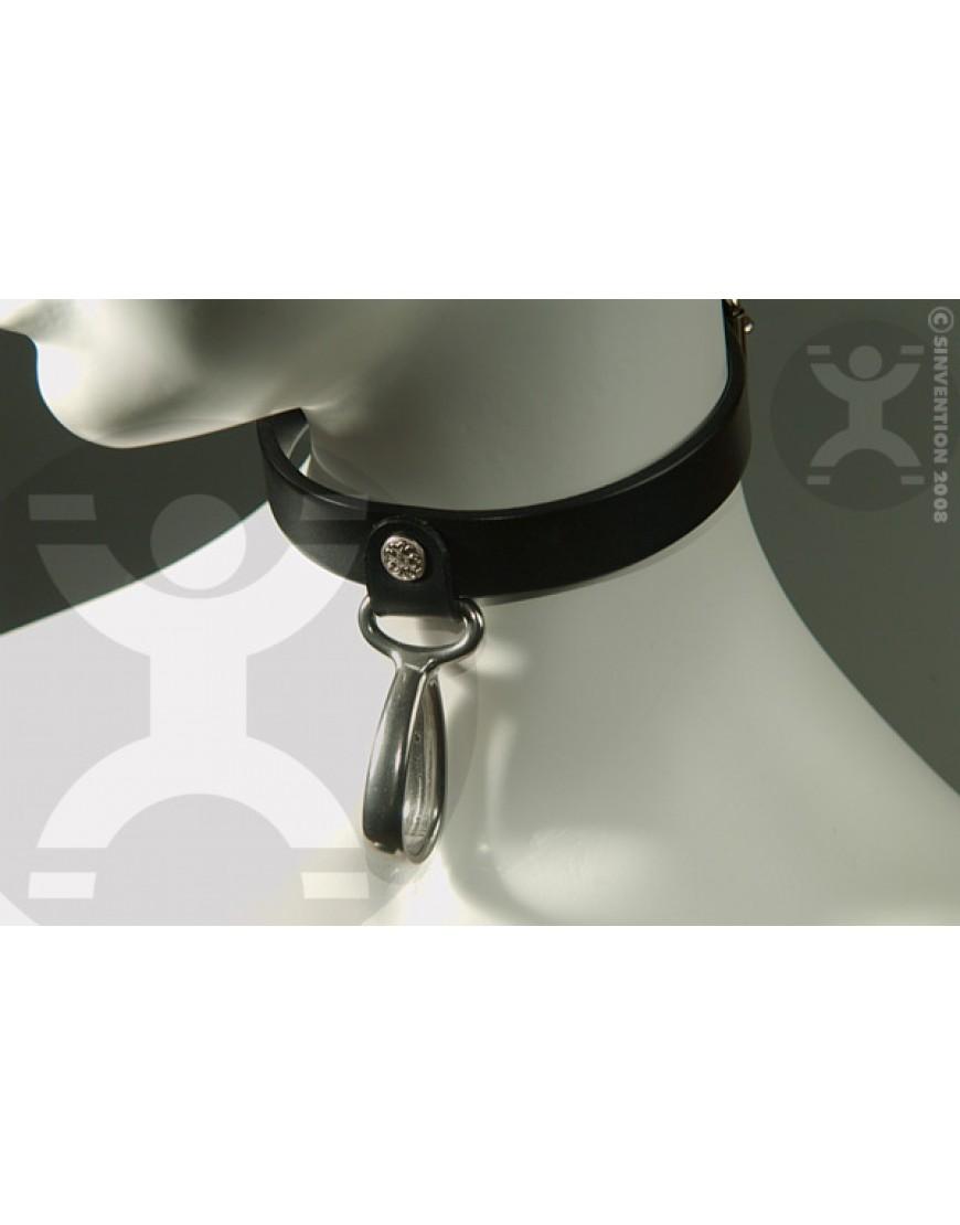 Hanging Teardrop Leather Collar
