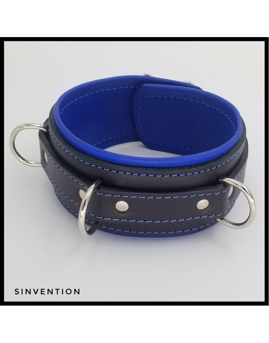 Deluxe Slave Collar Black & Blue