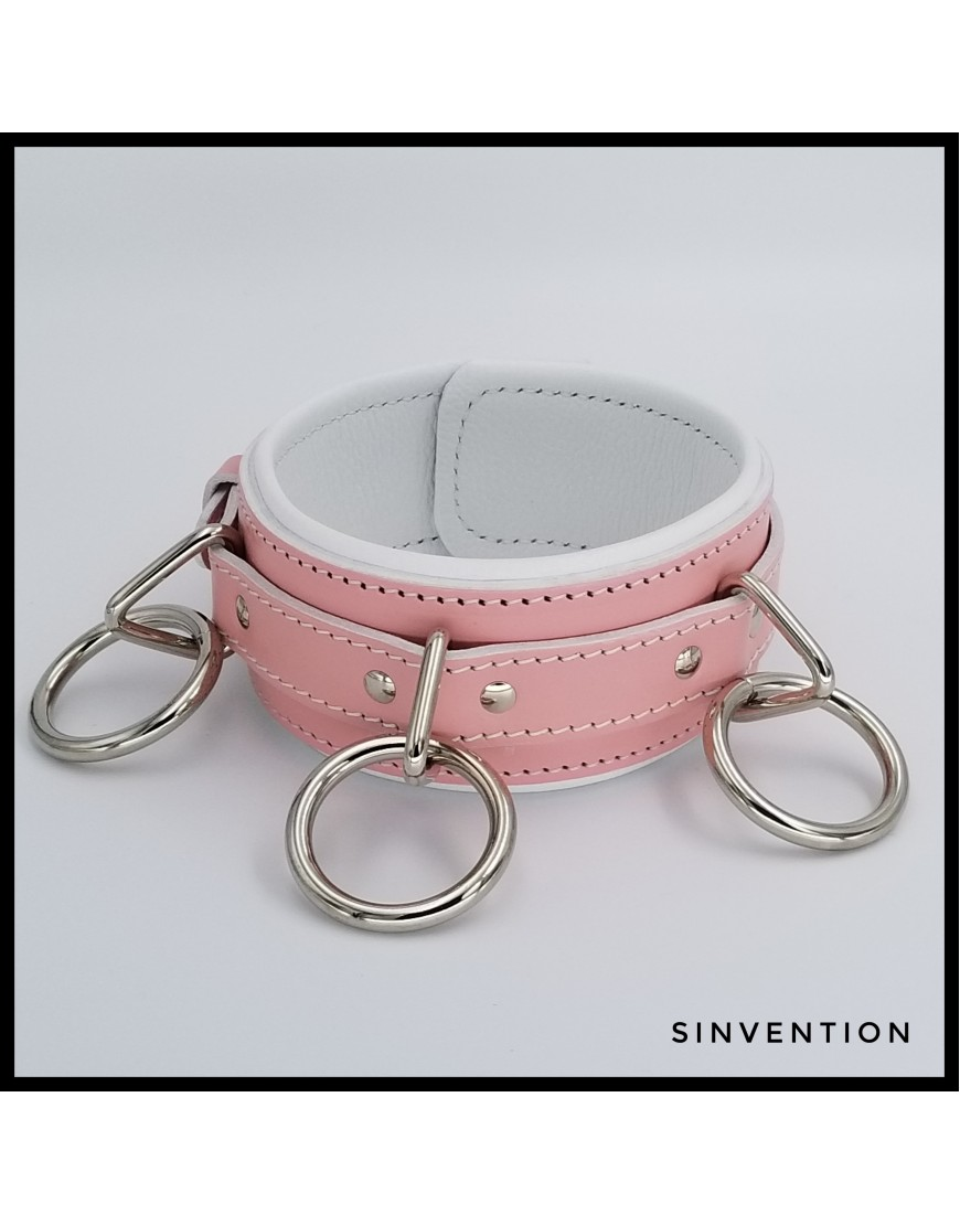 Baby Pink Deluxe Collar with Rings
