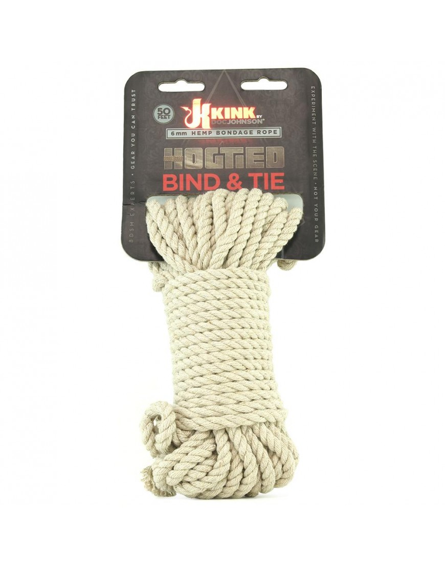Bind & Tie Hemp Bondage Rope in 50'