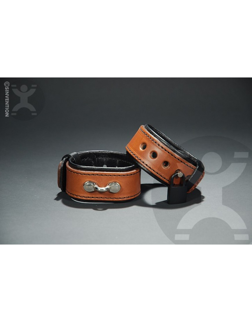 Brown Slim and Sexy Leather Cuffs